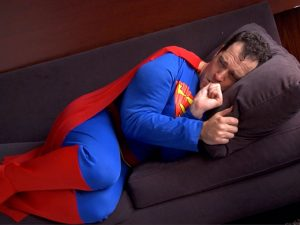 Even super heroes can suffer from stress and benefit from psychotherapy